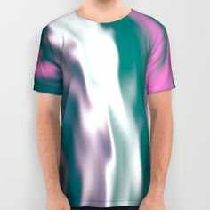 Colorful cold flames #abstraction All Over #Print #Shirt by Natalia Bykova on #Society6. #tshirt, #alloverprint, #abstraction