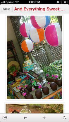 Maddys 6th Birthday party idea's Hawaiian party
