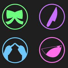 DDLC Class emblems! I think it would have been just great with all of their bows, personally. Nice touch that they're the color of their eyes~ Hair would have worked too~
