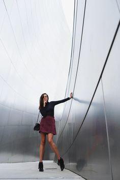STYLE SCRAPBOOK Skirt: & Other Stories | Top: Ganni | Boots: Sigerson Morrison | Bag: Saint Laurent