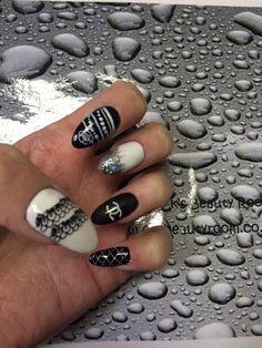 Chanel style nail art @ cks beauty room