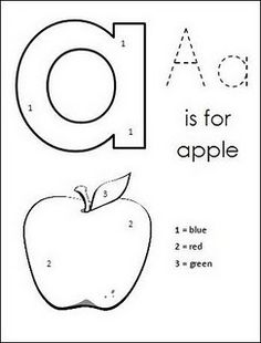 lowercase color by number alphabet