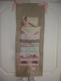 Tilda Princess and the Pea Wall Hanging by LindsayLuBearsETC, £50.00