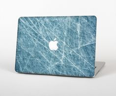"""The Scratched Iced Surface Skin Set for the Apple MacBook Pro 15"""" with Retina Display from Design Skinz"""