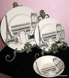 18 Piece Royal Stafford City Scenes Paris Eiffel Tower Dinnerware Set | eBay