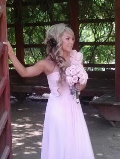 Bridal hair and makeup, bridesmaid hair, wedding hair, side braid, braid, braids, hair and makeup by Yota Batsaras @Queen bparlor