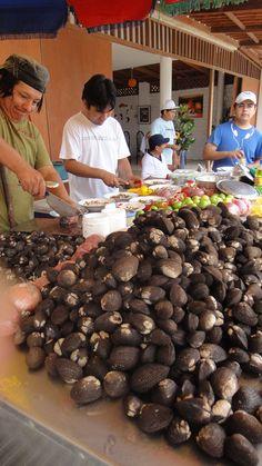 Black Clam Ceviche. Mancora, northern Peru. Ceviche de concha negra... Oh, lo mejor!!!!!