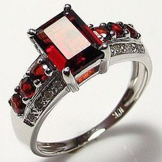 'Dazzling 10K WGF Created Red Garnet Ring-Sz. 8' is going up for auction Mon, May 13 with a starting bid of $7.  @Tophatter