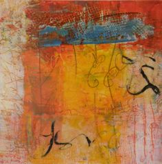 Meta Scriba # 6 by Laura Wait #encaustic #painting 2012