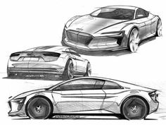 Audi e-tron Concept Design Sketch…
