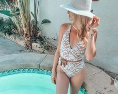 Bride Swimsuit - Lace Swimsuit - Bride Bathing Suit - High Cut Swimsuit - Lace Lingerie Birthday Swimsuit, Bridal Swimwear, Bride Bikini, Custom Swimsuits, Lace Swimsuit, Family Christmas Pajamas, Lace Bride, Valentines Day Gifts For Her, Lace Bodysuit