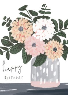 Best Birthday Quotes : (notitle) on We Heart It Happy Birthday Notes, Happy Birthday Wishes Cards, Birthday Blessings, Happy Birthday Images, Birthday Greeting Cards, Birthday Quotes, 21 Birthday, Happy Birthday Illustration, Happy Birthday Wallpaper