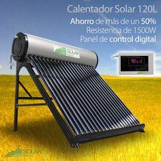Calentador Solar Tubos de Vacio 120L TV120, sistema foto-térmico capaz de capturar la energía térmica del sol para usarla en el calentamiento de agua.