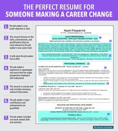 7 reasons this is an ideal resume for someone making a career change business insider