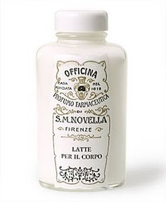 Santa Maria Novella Body Milk <3 this stuff. My hubby got it for me from Florence and I fell in love - such a great scent!