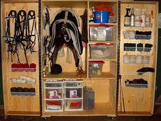 Here's a DIY Tack Storage hack with an old wardrobe. Keep your gear in better condition and more organised.
