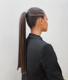 Cool Braid Hairstyles, Sleek Hairstyles, Hairstyle Ideas, Medium Hair Styles, Curly Hair Styles, Ponytail Styles, Ponytail Ideas, Aesthetic Hair, Grunge Hair