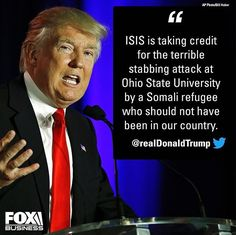 Isis taking responsibility for the attack. Get them out and properly vet the ones who need help. Trump! Thank you Lord!