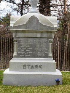 Nutfield Genealogy: Tombstone Tuesday ~ Stark Family Plot, Manchester, New Hampshire