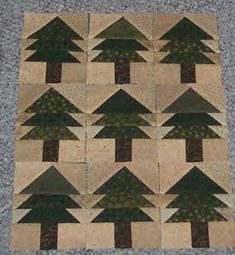 Pine Tree Quilt Machine Pieced By Theresa Callahan Over