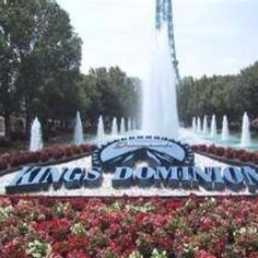 Kings Dominion, VA  amusement park has lots of roller coasters