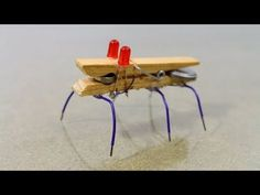 How to Make a Mini Robot bug. How to make a toy robotic bug at home. This is a simple robot made out of household materials that can move around on your desk. The materials used are super easy to come by and the projects is awesome so definitely try to Stem Projects, Science Fair Projects, Science Experiments Kids, Science For Kids, Cool Diy Projects, School Projects, Science Diy, Make A Robot, Diy Robot