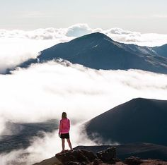 """CloudLine on Instagram: """"Hiker @salty.blonde enjoying a view above the #CloudLine! Photo: @philippsalzborn #hiking #hawaii #mountains #clouds #maui Share your adventures to be featured!"""""""