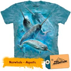 Narwals Whale Shirt Tie Dye Sealife T-shirt Adult Tee Aquatic T-shirts Available in Small, Medium, Large, XL, & Officially Licensed View our Whale Shirt, Animal Graphic, Gamer T Shirt, Mountain Man, Mountain Shirts, Branded T Shirts, Tshirts Online, Cool Shirts, Chemises