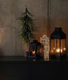 House-shape lantern and Christmas-trees. All from Natural Bed Company. Cosy Christmas, Christmas Bedroom, Christmas Trees, Christmas Decorations, House Candle Holder, Metal Candle Holders, Home Candles, Pillar Candles, Bed Company