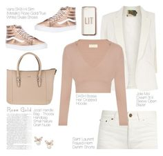 """""""Rose Gold Glory"""" by onelostsoul ❤ liked on Polyvore featuring Vans, Yves Saint Laurent, Joop!, Jolie Moi, Vanity Fair, Missguided, Elegant, everyday and rosegold"""