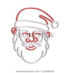 Retro style illustration showing a neon sign light signage lighting of a head of Santa Claus viewed from front on isolated background. Neon Stock, Sign Lighting, Halloween Art, Retro Style, 1990s, Retro Fashion, Signage, Royalty Free Stock Photos, Santa