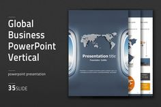 Global Business PowerPoint Vertical by Good Pello on @creativemarket