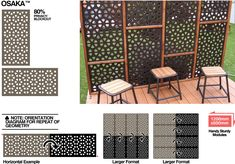 OSAKA™ Outdeco Gardenscreen Modular Timber Screens