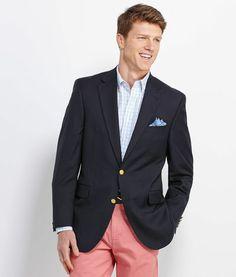 Mens Blazers and Jackets: 2 Button Men's Blue Blazer – Vineyard Vines