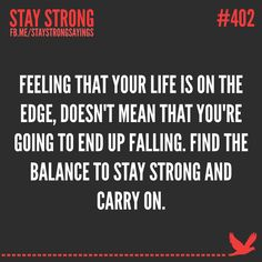 Stay strong and carry on. www.katrinasclothing.com