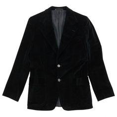 Pre-owned Yves Saint Laurent Vest ($431) ❤ liked on Polyvore featuring men's fashion, men's clothing, men's outerwear, men's vests, black, men clothing jackets, mens vest, mens button sweater vest, mens velvet vest and mens vest outerwear