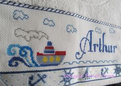 Cross Stitch Letters, Cross Stitch Samplers, Embroidered Towels, Le Point, Stitch Patterns, Kraken, Baby Shower, Embroidery, Wallpaper