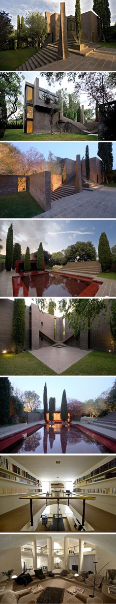 The Family House at the Empordà. This beautiful home was constructed in 1975 by Spanish architect Ricardo Bofill out of the ruins of an old country house.