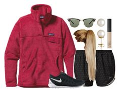 """""""I made the basketball team! """" by chevron-volleyball ❤ liked on Polyvore featuring Patagonia, NIKE, Ray-Ban, Honora and NARS Cosmetics"""