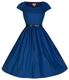 Lindy Bop Tara Eye Catching 50s Hepburn Vintage Inspired Swing Dress (4XL, Midnight Blue) Lindy Bop http://www.amazon.com/dp/B00NP17FMW/ref=cm_sw_r_pi_dp_YB29ub07BCG50