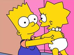 Both look so cute in this picture, Bart and Lisa Lisa Y Bart, Bart And Lisa Simpson, Simpsons Drawings, Sister Love, Sister Tattoos, Futurama, The Simpsons, Simpsons Cake, Animation Series