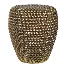 Bring unique style to your living space with this striking Dot Stool from Pols Potten. Crafted from iron with a brass finish, it is suitable for indoor use only and looks great in any room as an accen Living Furniture, Furniture Making, Colored Epoxy, Art Et Design, Ceramic Stool, Glass Birds, Metallic Colors, Accent Pieces