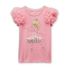 Toughskins Girl's Embellished Top - Ballerina
