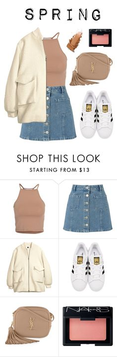 """Youngjae's ideal type (spring)"" by got7outfits ❤ liked on Polyvore featuring NLY Trend, Miss Selfridge, H&M, adidas Originals, Yves Saint Laurent and NARS Cosmetics"