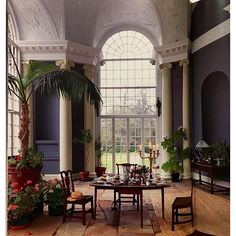 Orangery in the Temple of Diana on the grounds of Weston Park in Staffordshire. Probably built ca 1760.