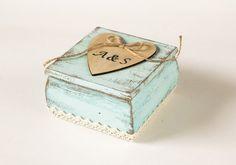 Wedding Ring Bearer Box mit Kissen Aqua Ring von MyHouseOfDreams, $32.00