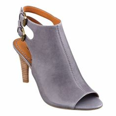 Blurring the line between booties and peep-toe sandals, Miraculous features an open back and dual-buckle closure. It also has that wear-anywhere versatility. Padded footbed for all-day comfort. Leather upper. Man-made lining and sole. Imported. Stacked 3 inch heels. Peep toe booties.