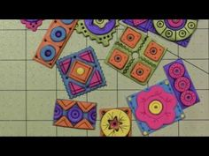 Polymer Clay tile tutorial; Geometric Patterns - YouTube