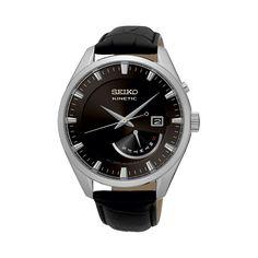 Avanceret herreur i klassisk design - Seiko Kinetic Fine Watches, Cool Watches, Watches For Men, Black Leather Watch, Mens Watches Leather, Seiko Men, Selection, Online Watch Store, Bracelet Cuir