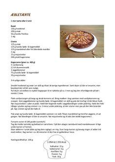 Æbletærte opskrift